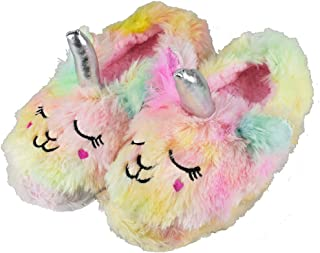 RliliR Ever Kids Unicorn Cute Slippers Warm Household Slip-on Indoor Rainbow Shoes