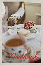Notebook: Devon Cream Tea Handy Composition Book Journal Diary for Men, Women, Teen & Kids Vintage Retro Design for Fans of Scones Strawberry Jam and Clotted Cream