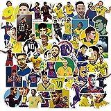XIAMU Etiqueta engomada de la Maleta de la computadora del teléfono móvil de la Estrella del fútbol de la Etiqueta engomada de Neymar Impermeable 50 Piezas