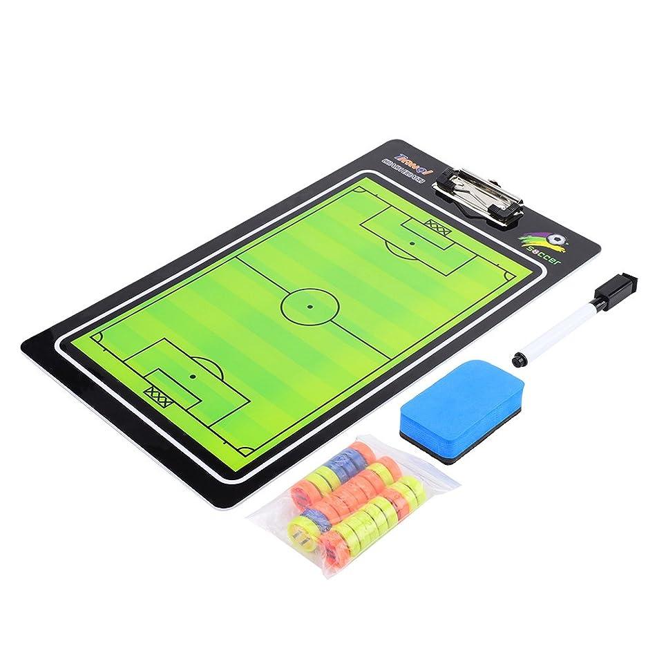 グリース日食付録Acogedorサッカーボール戦術的なボード 磁気ボード 作戦板 サッカー コーチのポータブル指導ツール マーカーを消去する可能