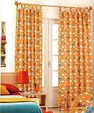 Original Disney Winnie the Pooh & Tiger cortina algodón 100%- ORANGE D967