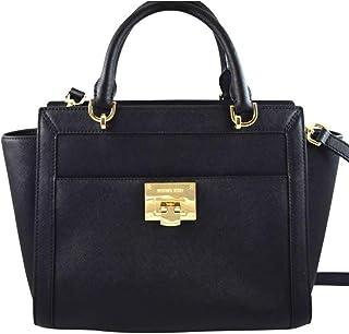 3ee1ed5c9b2850 MICHAEL Michael Kors TINA LARGE TOP ZIP Women's Shoulder Handbag SATCHEL  (Black)