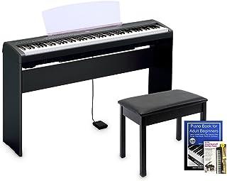 Yamaha P45 Digital Piano Education Bundle, Black with Yamaha