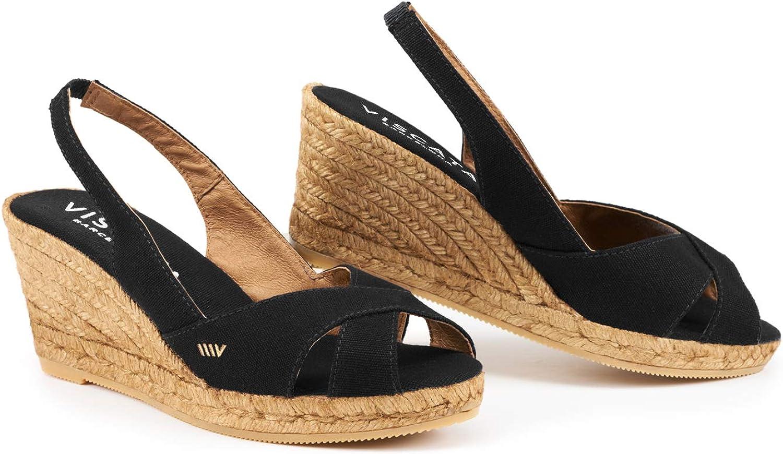 73a448a3c Handmade in Spain Calella 2.5 SlingBack, Open Toe, Espadrilles Heel Wedge,  VISCATA npbsjz2456-Sporting goods