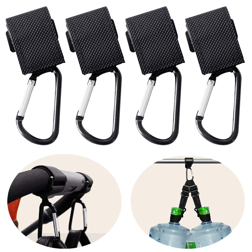Stroller Accessory for Hanging Shopping//Diaper Bags and Purse Extra Large Stroller Hooks with Straps by Baby Akili 3 Pack