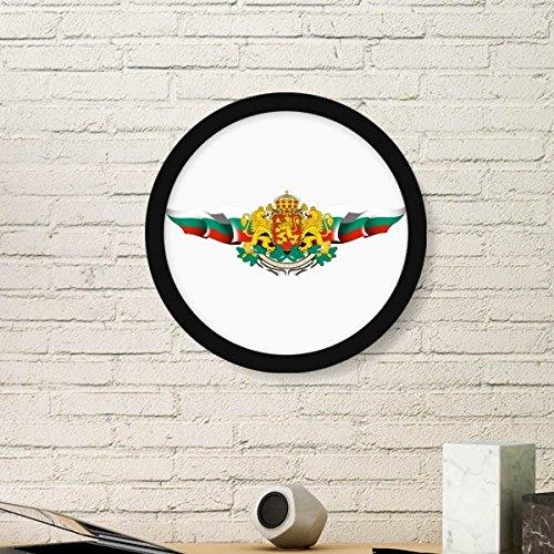 DIYthinker Bulgarije Vlag Nationaal Embleem Ronde fotolijst Art Prints Van Schilderijen Thuis Muursticker Gift