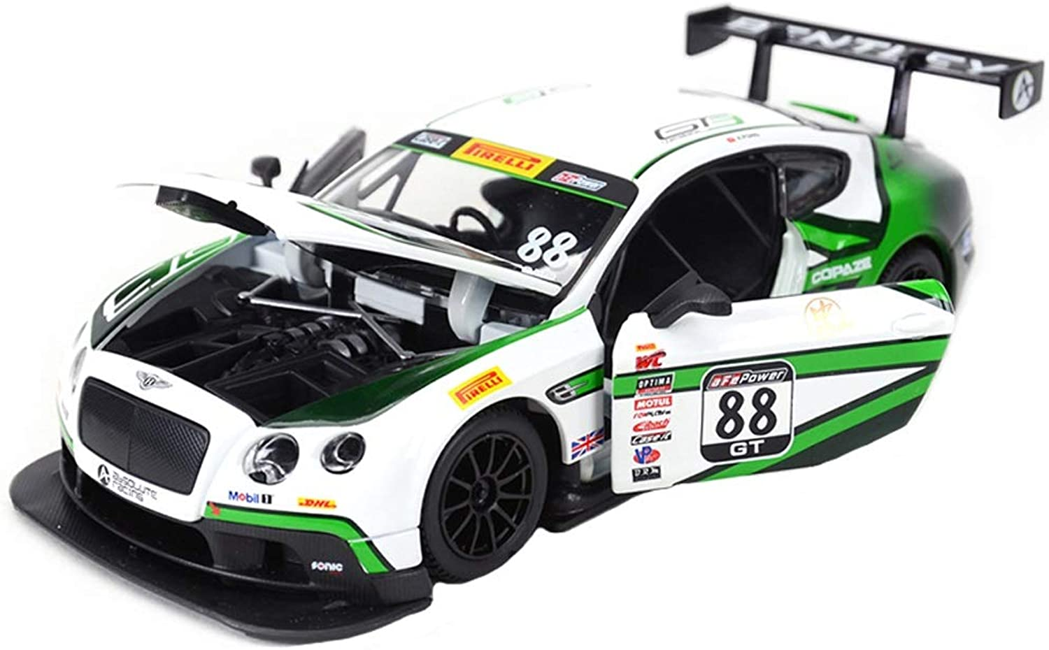 GAOQUN-TOY 1 24 Bentley Continental GT3 Motorsport Supersportwagen Simulation Legierung Automodell Geschenkbox Dekoration (Farbe   Weiß 88, größe   20CM8.2CM5.3CM) B07MW3BY4V  Ausgewählte Materialien     | Smart