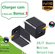 2019 Upgraded Spy Camera Charger Bundle No WiFi-Hidden Spy Phone USB Charger Camera Motion Activated All The Day