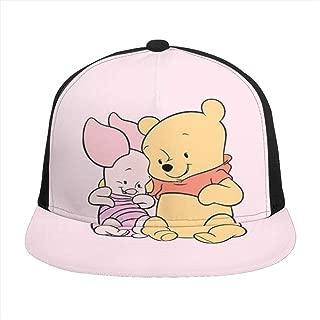 Hip-Hop Flat Baseball Snapback Cap Cap CanvasAdjustable Hat Winnie The Pooh and Piglet
