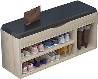 XIANGGUI 1983 Étagère Chaussures Chaussures de Rangement Banc d'hôtes Organisateur Stand Stand avec Coussin Couleur Saisie...