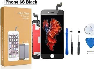 CW iPhone 6s 3Dタッチスクリーン修理交換用フロントパネル(フロントガラスデジタイザ)修理交換用高品質LCD 液晶パネルセット  修理工具付属 (黑)