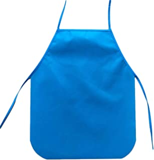 Apron Children Waterproof Kitchen Cooking Bib Apron Paint Eat Drink Outerwear Solid Apron for Kids #LL,Blue,As Shown
