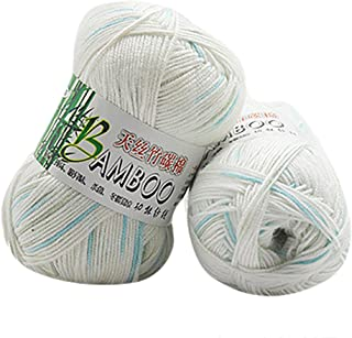 JMcall New 100% Bamboo Cotton Warm Soft Natural Knitting Crochet Knitwear Wool Yarn 50g(Multicolor)
