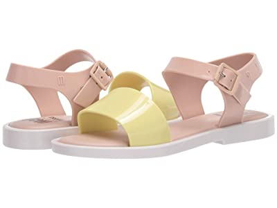 Mini Melissa Mel Mar Sandal INF (Little Kid/Big Kid) (Yellow/Pink) Girl