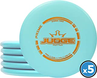 Dynamic Discs Judge Disc Golf Putter Five Pack | Frisbee Golf Putter Pack | 170 Grams and Above | Disc Golf Color and Stamp Will Vary