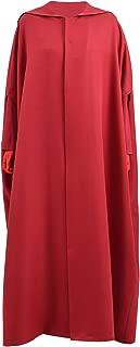 Halloween Cosplay Costume Women Long Sleeve Loose Plain Long Maxi Casual Dress Cloak Hat