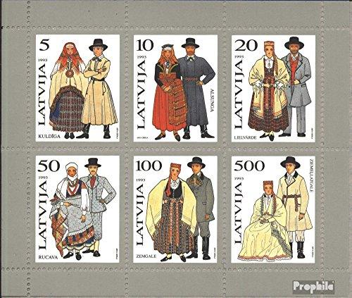 Lettonie mer.-no.: Bloc 3 (complète.Edition.) 1993 Costumes (Timbres pour Les collectionneurs) Uniformes / Costumes