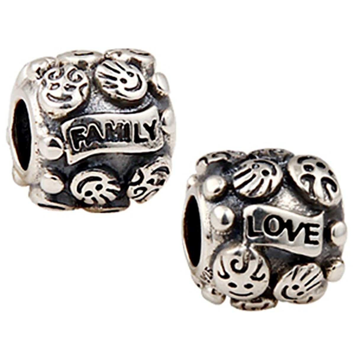 Love Family Charm 925 Sterling Silver Boy Girl Beads fit for DIY Charms Bracelets