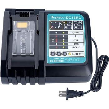 CHARGEUR dc18rc batterie bl1830b 18 V Makita Batterie-Sécateur duh523z