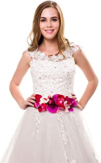 6dde14132 Ever Fairy moda flor cinturones para mujer niña dama de honor vestido de satén  cinturón boda