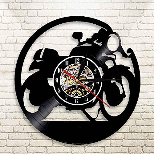 WERWN Classic motorcycle cafe racer vinyl wall clock vinyl wall clock decoration