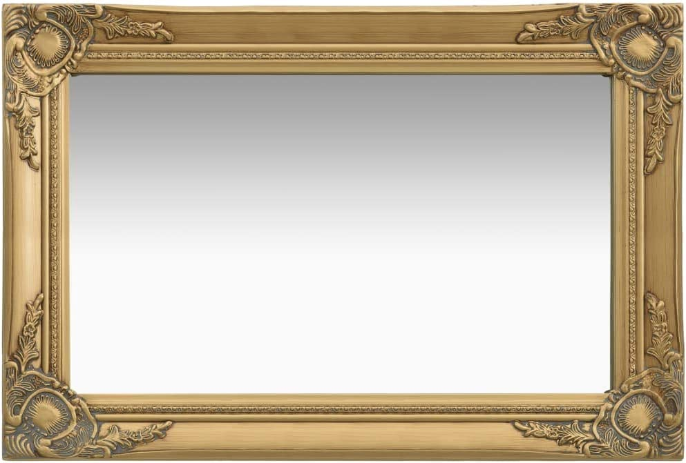 INLIFE Baroque 正規取扱店 Style Wall Mirror メーカー再生品 Wooden Rectangle Len Full Frame
