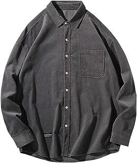 CXYP メンズ シャツ 長袖 シャツジャケット 無地 トップス ゆっとり カジュアル コットン 春 秋 冬服