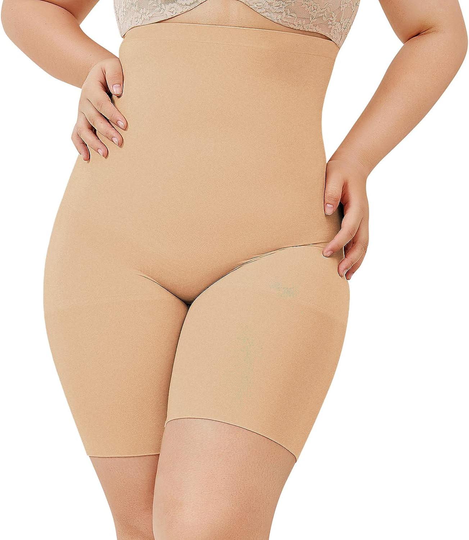 DELIMIRA Women's Plus Size High Classic Time sale Waist Shapewear Panties Control