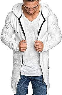 Jimmackey Cappotto da Tasca con Cerniera Felpa Original da Uomo con Cappuccio in Misto Cotone con Zip