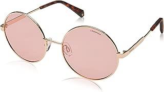 Polaroid Polarized Round Women's Sunglasses - (PLD 4052/S 35J 550F 55 Pink Color)