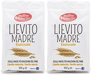 Molino Rossetto Italian Active Dry Yeast for Bread - Mother Yeast - 3.5oz (100g) - Pack of 2
