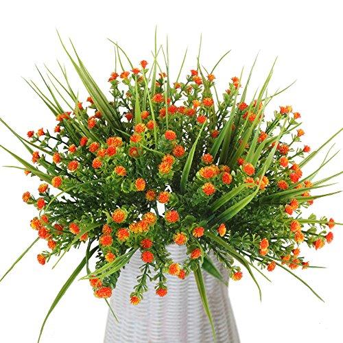 MIHOUNION 4 Bouquets en Gros Arrangements de Fleurs artificielles Real Touch Plastique Imitation Simili gypsophile Fleurs pour Mariage Maison Fête Bureau Festival Tombe Décoration