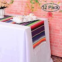 serape striped table runner