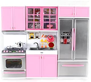 Modern Kitchen Battery Operated Toy Kitchen Playset, Perfect for 11.5