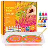 Water Marbling Paint Art Kit for Kids: Water Art Paint Set for Kids Age 4 5 6 7 8 9 10 Year Old Girls Boys Birthday Gifts Arts and Crafts for Kids Ages 8-12 Creative Toys for Kids 4-12
