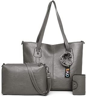 Bageek Women Tote Bag Top Handle Bag with Shoulder Bag Card Holder Pendant for Travel