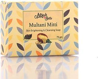 Mirah Belle - Organic Multani Mitti Soap - Skin Brightening - Handmade, Natural, Vegan and Cruelty Free - 125 gm