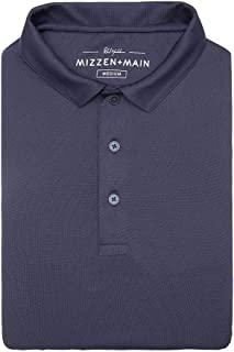 Mizzen + Main Phil Mickelson Mens Golf Polo, Quick Dry and UPF 30+