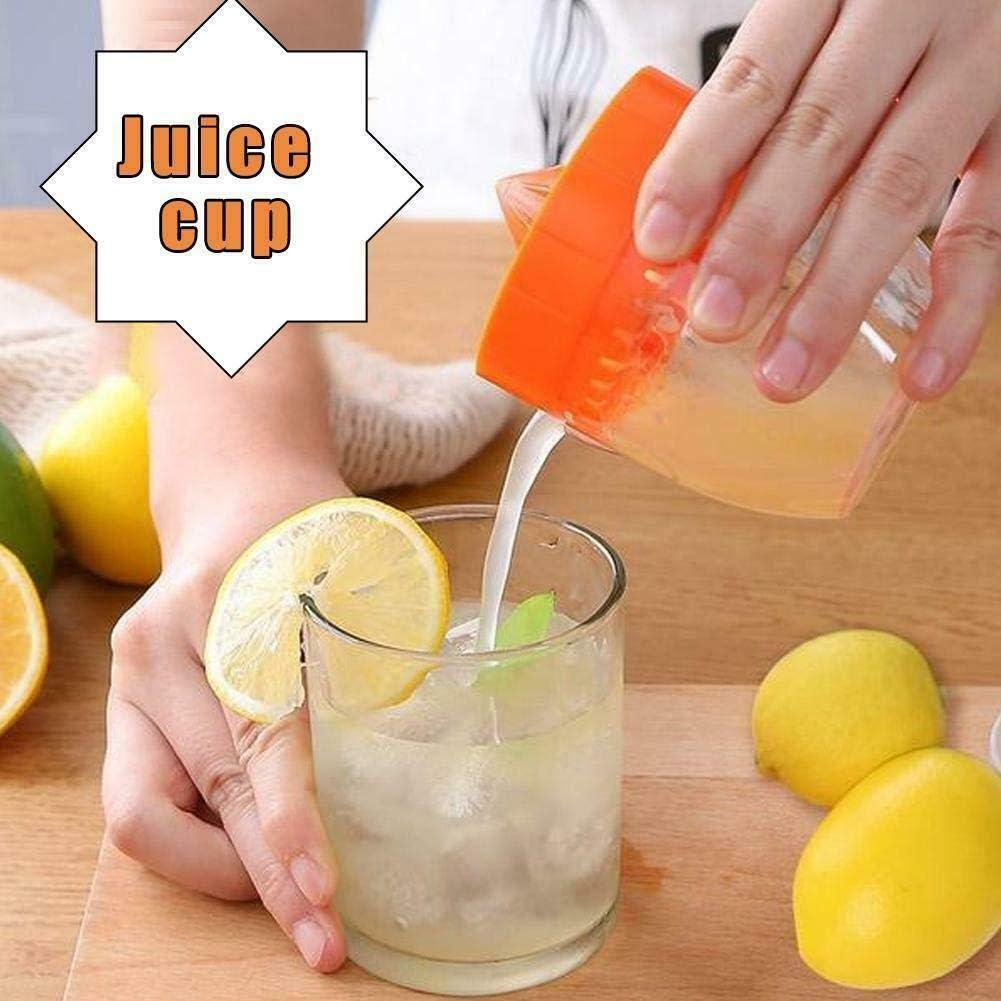 Exprimidor Manual de exprimidor de limón y Naranja, Mini Prensa de Mano y Fruta Citrus Kitchen Gadgets Tool (Azul) Naranja