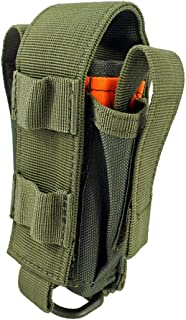 Depring Tool Holster Sheath Universal Multi Pockets Tool Organizer Heavy Duty Construction MOLLE Pouch (Army Green)