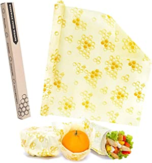Beeswax Food Wrap Set Reusable Cover Paper Wraps Eco-Friendly Sustainable Food Storage Wrappers Cling Wrap Alternative Foo...