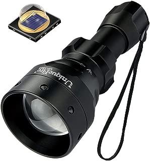 UniqueFire T50 IR Hunting Flashlight, Upgraded 5 Watt SFH 4715AS 850nm LED Infrared Light Night Vision Torch丨IR Illuminator for Night Vision Device Camera Monitor Fill Light