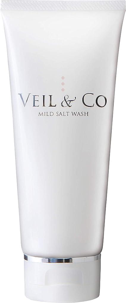 明るくする階転用【VEIL&Co】ベールアンドコー 毛穴専用マイルドソルトウォッシュ(洗顔料) 150g