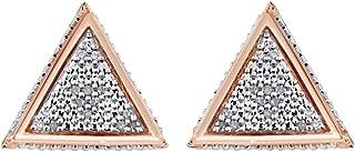 Orecchini a triangolo in argento Sterling 925 (oro 18 carati su argento sterling)