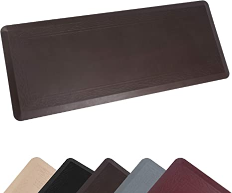 Amazon Com Anti Fatigue Comfort Mat By Dailylife Non Slip Bottom 3 4 Thick Durable Kitchen Standing Floor Mat With Extra Support At Home Office And Garage Waterproof Easy To Clean 24 X 60