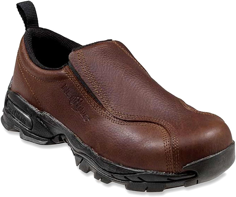 Nautilus 4620 Soft Toe ESD Men's Slip On Brown