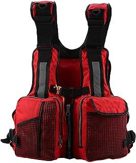 Thur amo Fishing Life Jacket Vest, Kayak Boat Buoyancy Aid Sailing Vest with Reflective Stripe and Multi-Pockets whistle