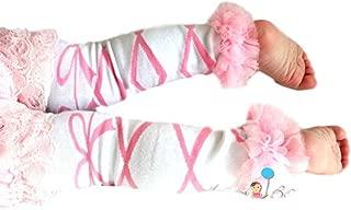 Happy Bowtique Baby Girl Ruffle Chiffon Leg Warmers, Girl's Ruffle Leg Warmers