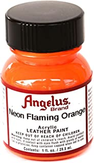 Angelus Neon Flaming Orange Acrylic Leather Paint