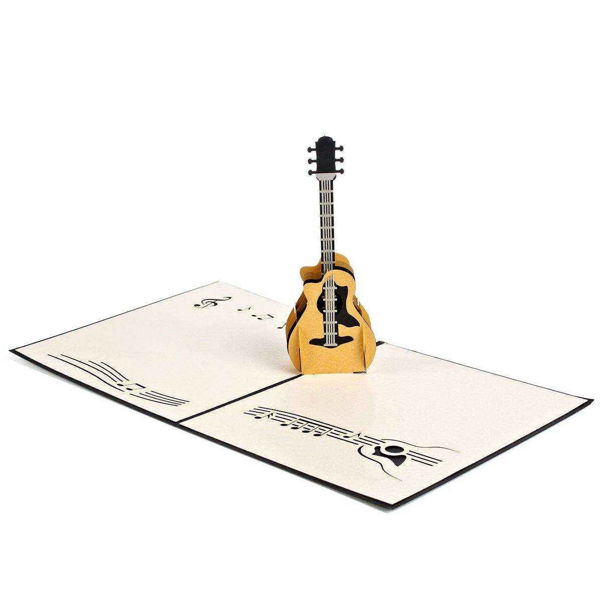 Lote de 2 Pop Up Tarjetas de felicitación – Guitarra, tarjeta de ...